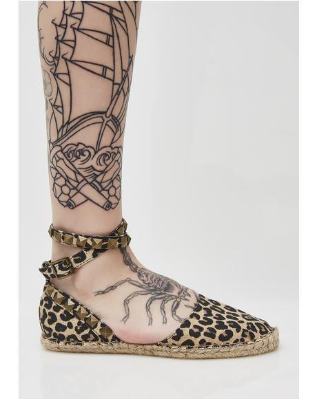 Mandy Leopard Flats
