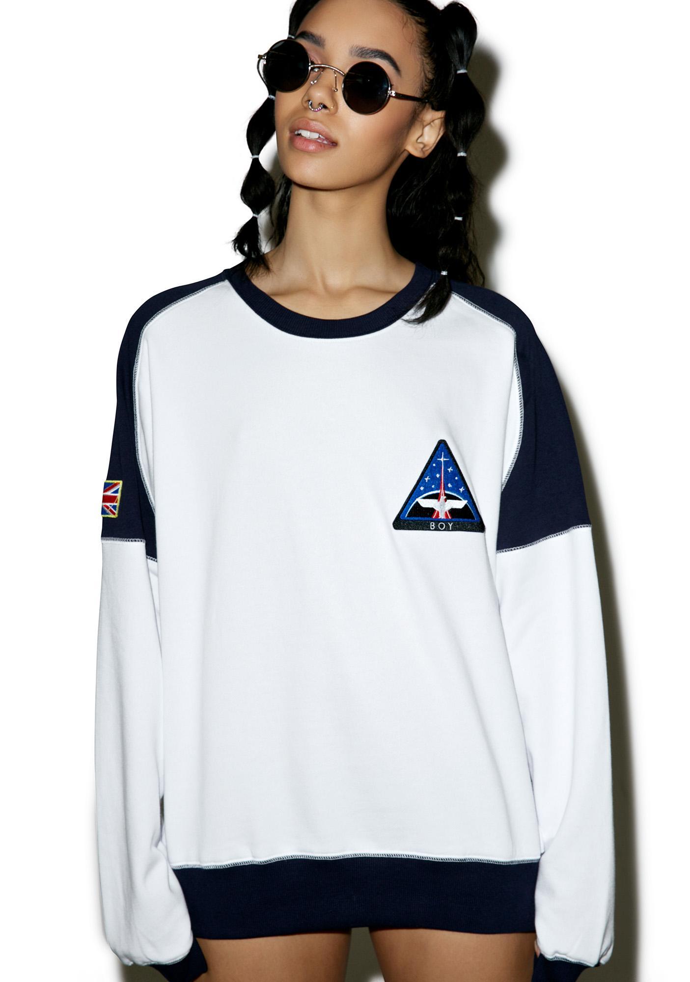 BOY London Boy Space Badge Sweatshirt