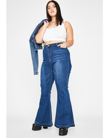 Make It Hot Denim Flares