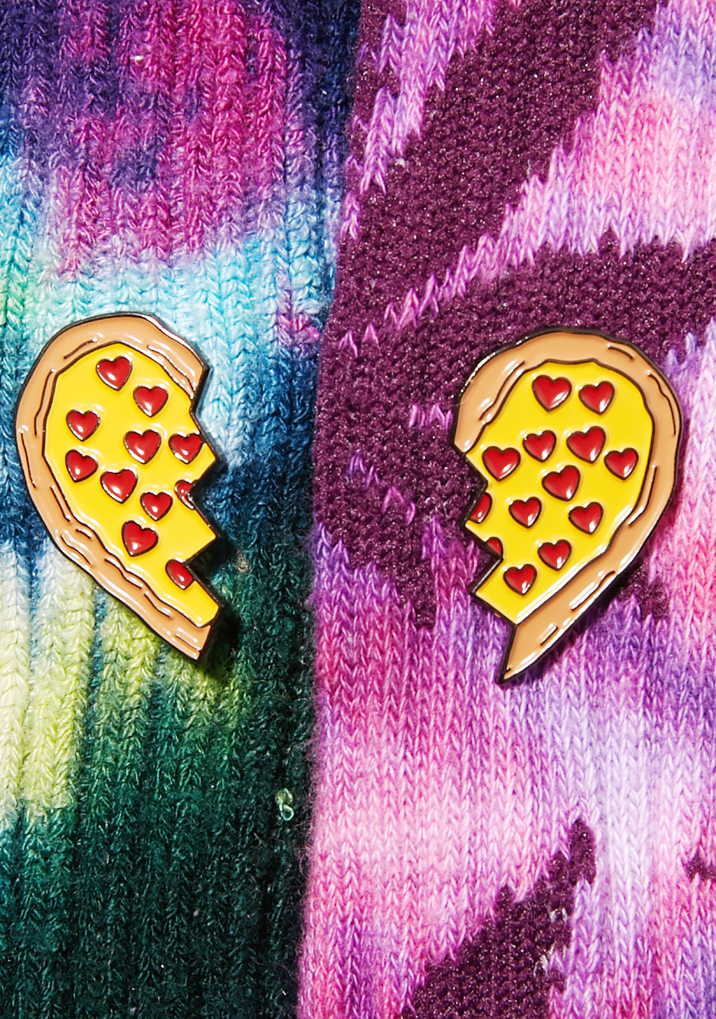 Laser Kitten Pizza Besties Pin Set