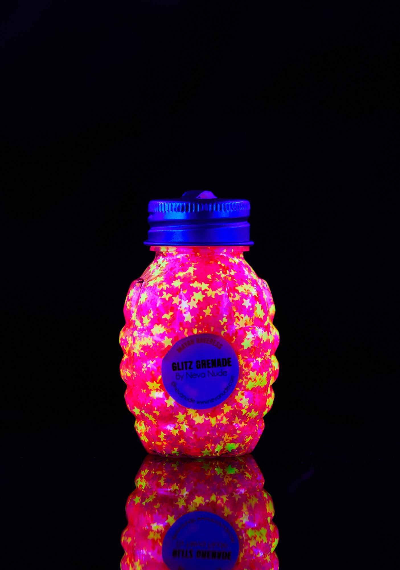 Neva Nude Mayan Raverness UV Glitz Grenade Glitter