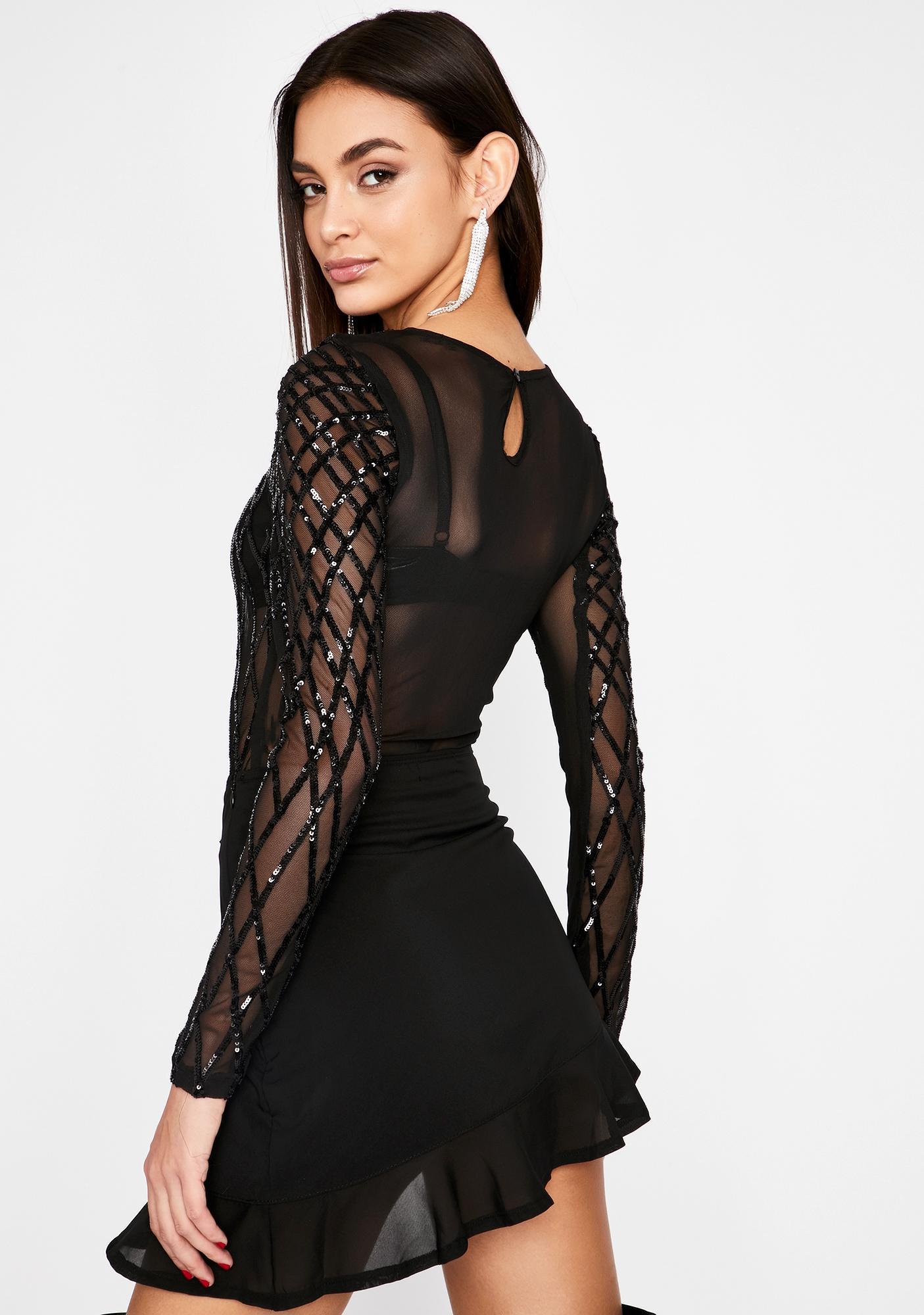 Complicated Crush Sequin Bodysuit