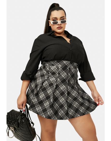 My Collegiate Cutie Plaid Mini Skirt