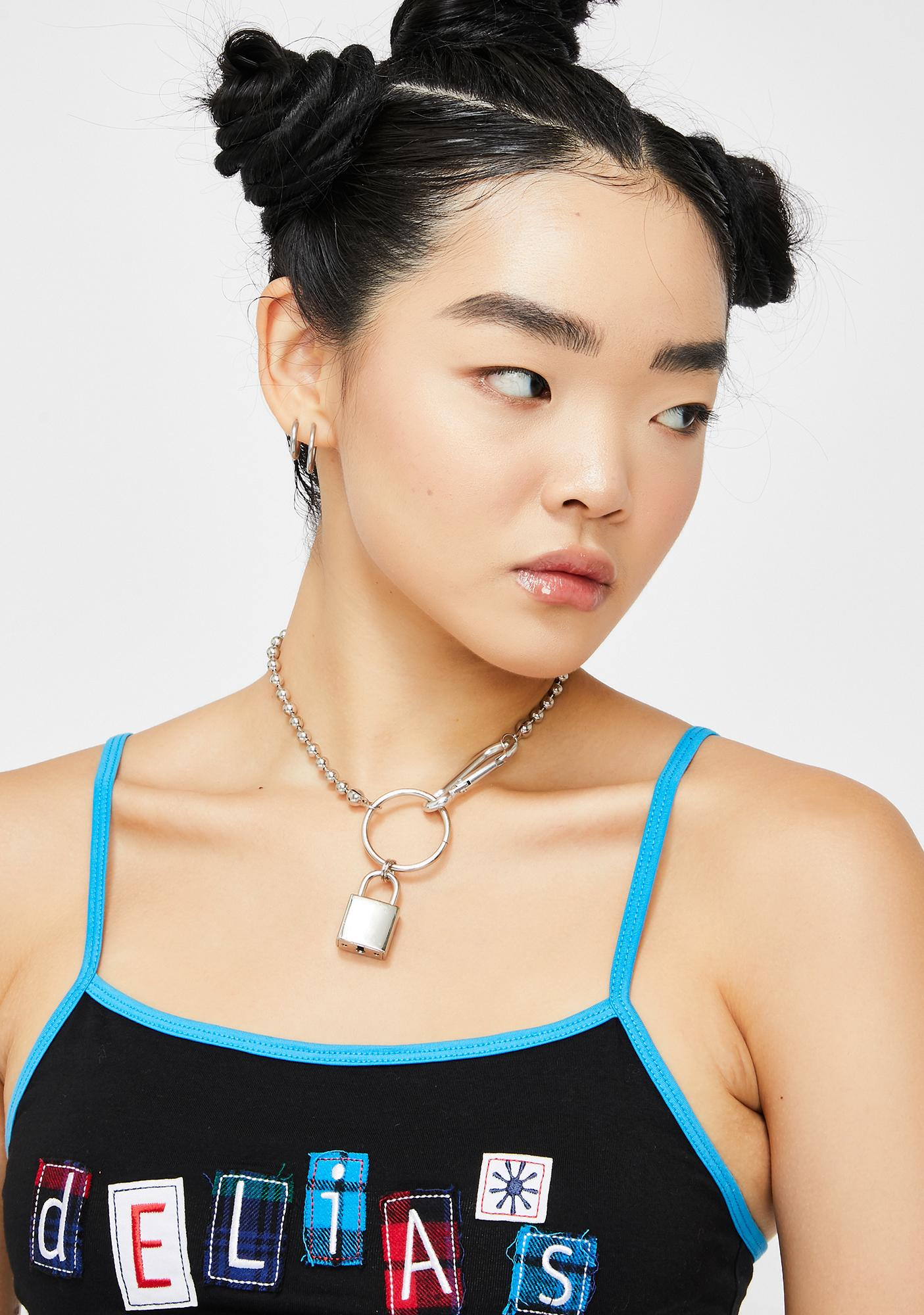 Locked On U Ball Chain Choker
