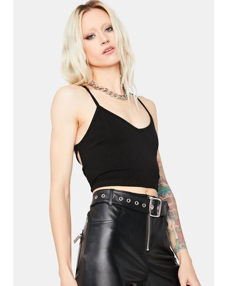 Let's Get Paid Lace Up Crop Top