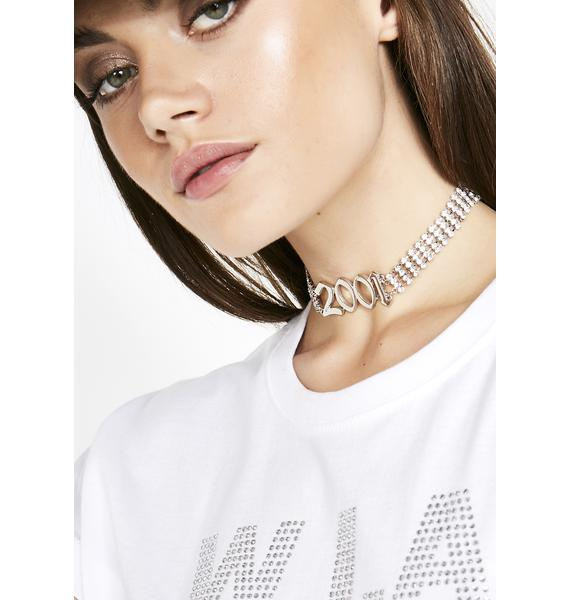 The Double Ohs Rhinestone Choker