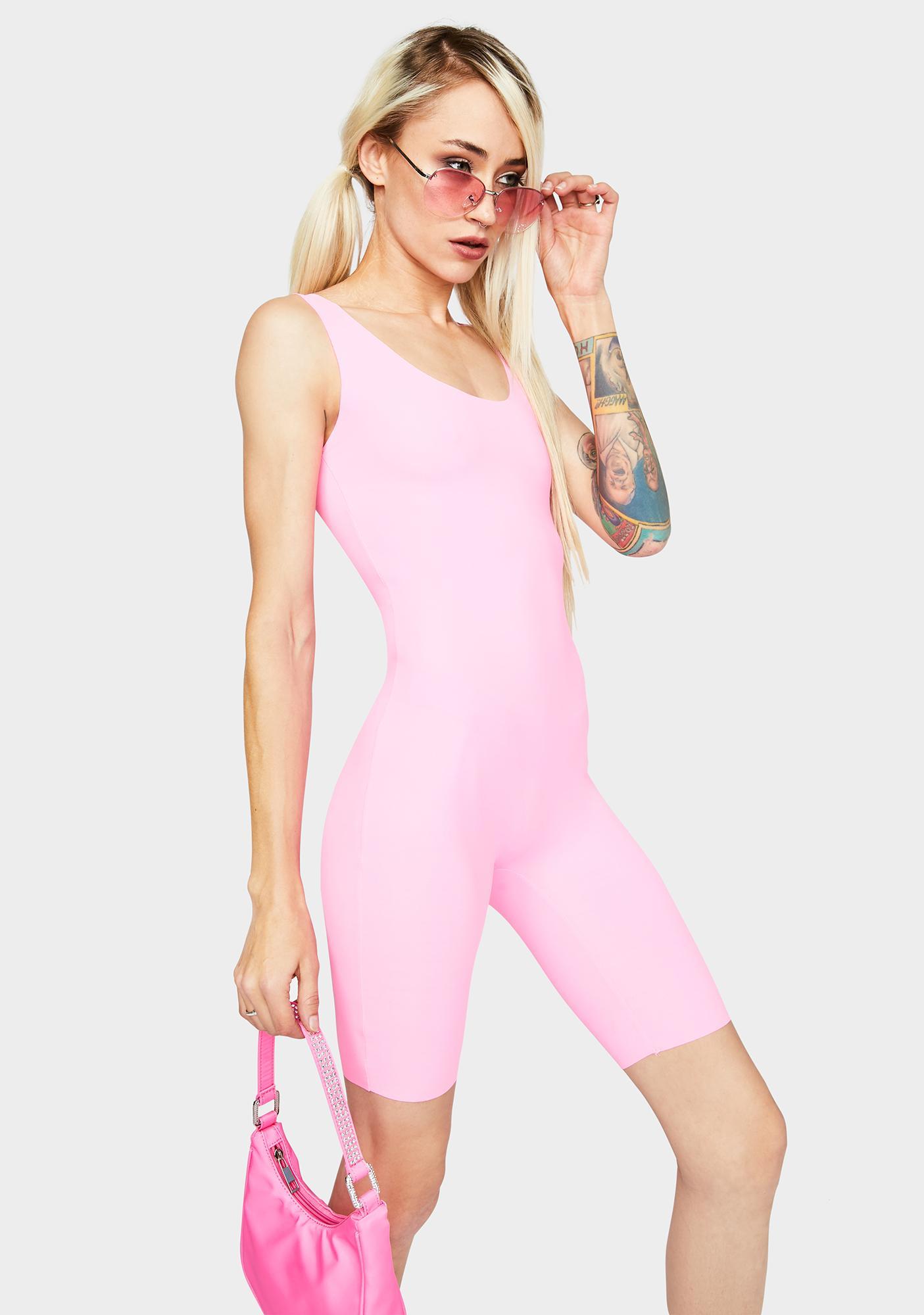 Kiki Riki Pink Glowin' N' Growin' Tank Playsuit