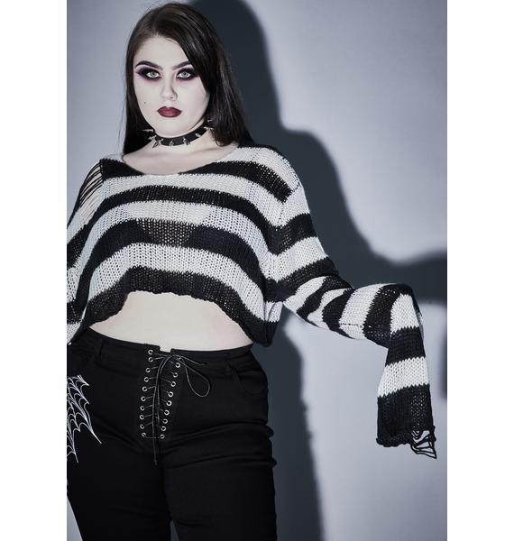 Widow Wicked Super Creep Striped Sweater