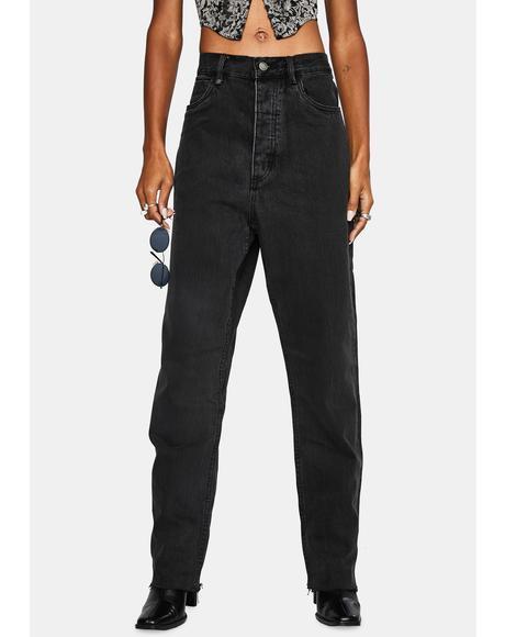 Faded Black Paige Denim Jeans