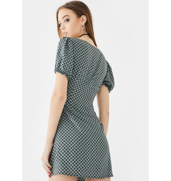 Motel Green Montero Mini Dress