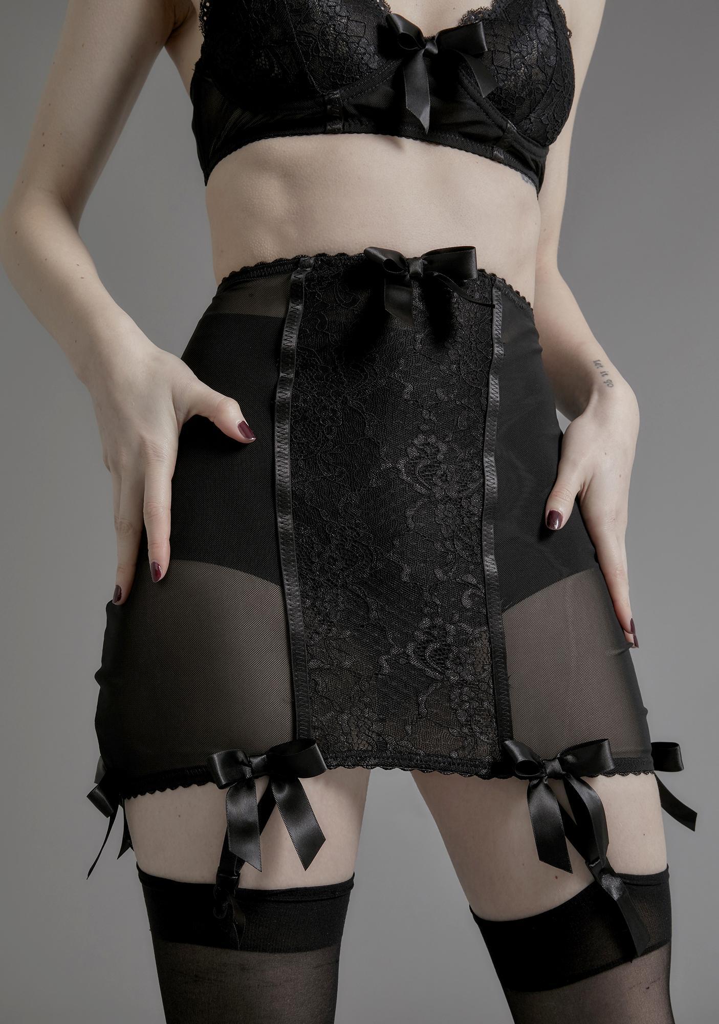 Widow Unrequited Love Garter Skirt