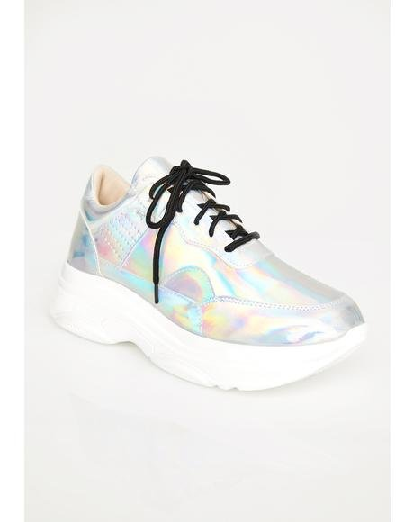 Stellar Strut Holographic Sneakers