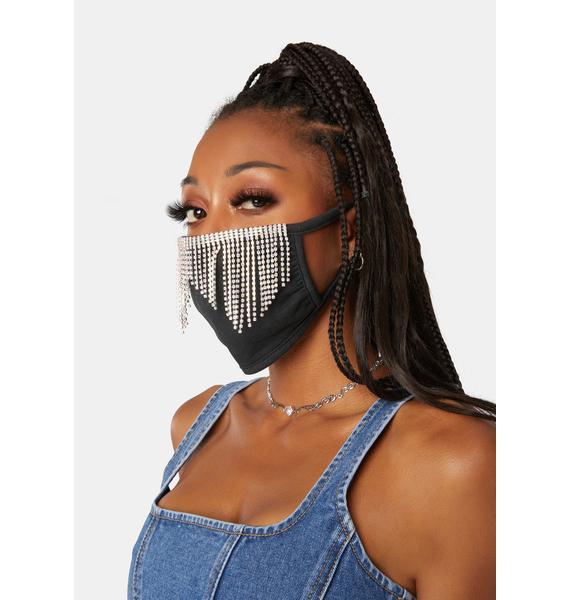 Rad + Refined Disco Rhinestone Face Mask