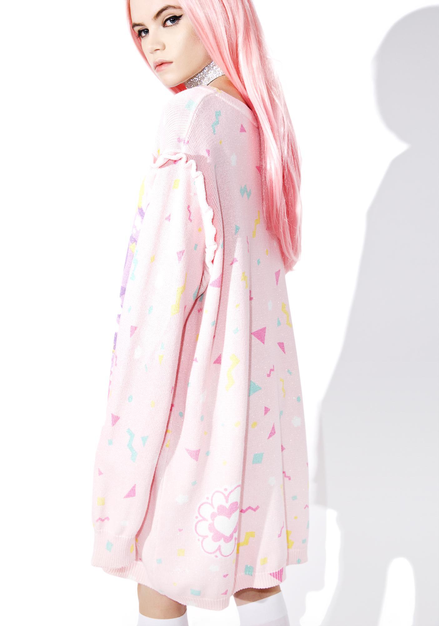 Japan L.A. Miss Kika Sweet Confetti Sparkle Sweater