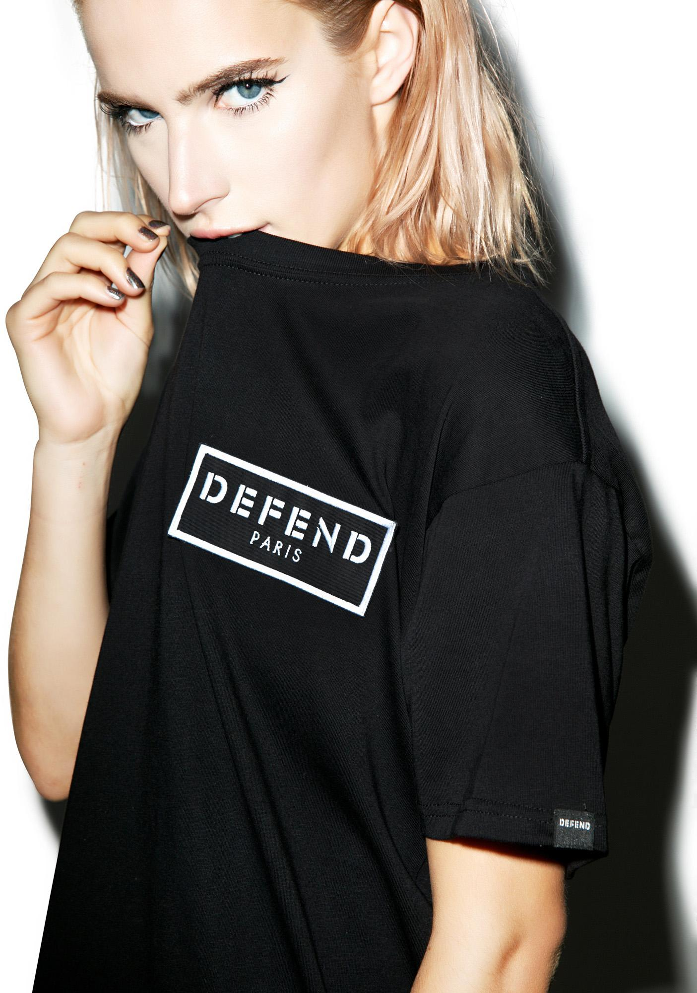 Defend Paris Paris Stripe Patch Tee