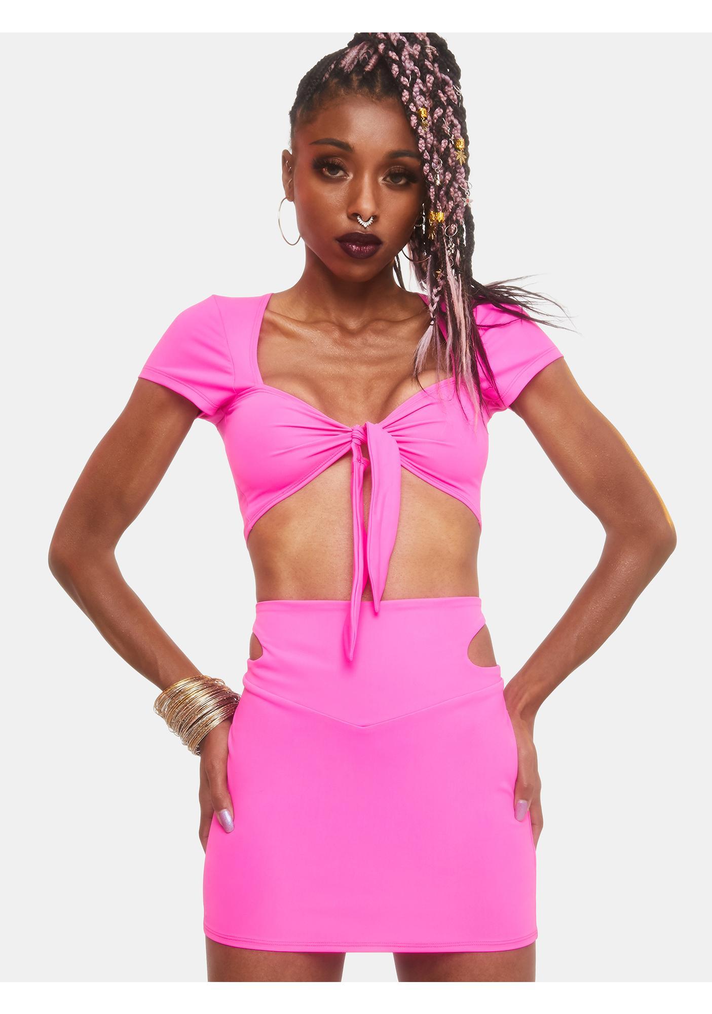 Club Exx Fallin' Up Cut-Out Mini Skirt