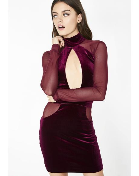 Dazzling Deviant Velvet Dress