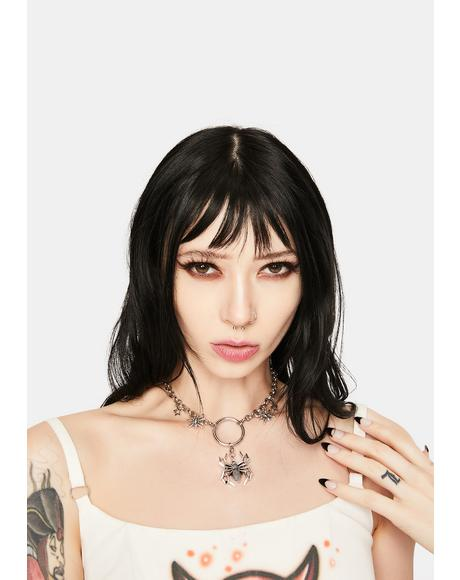 Black Widow Baddie O-Ring Necklace