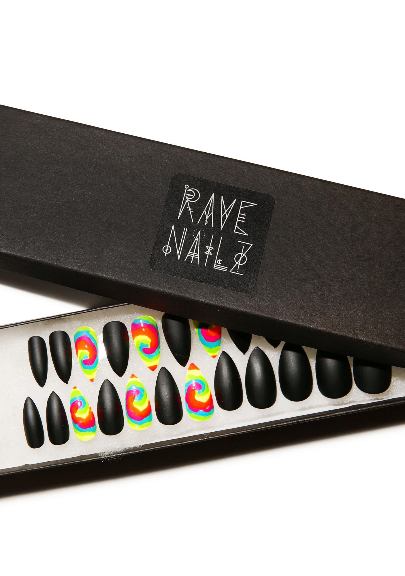Rave Nailz Matte & Tie Dye Nail Set