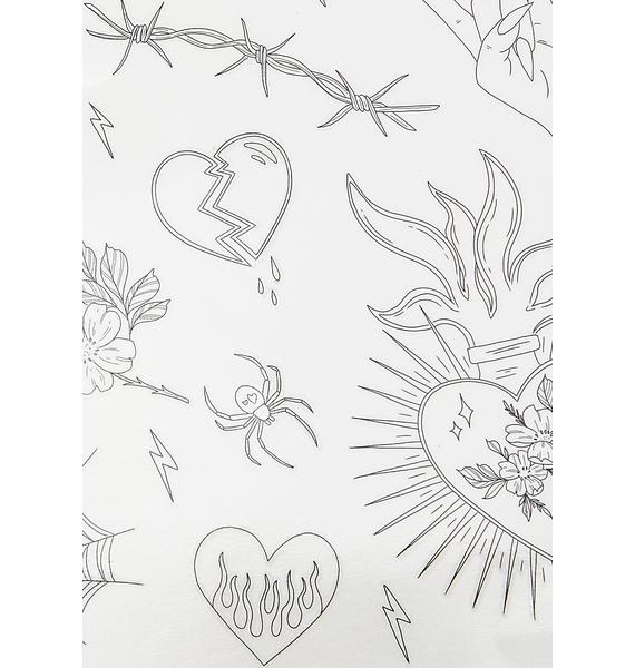 SHRINE X Sophie Rimmer Hearts Temporary Tattoos