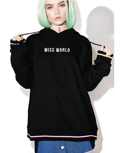 Miss World Oversized Hoodie