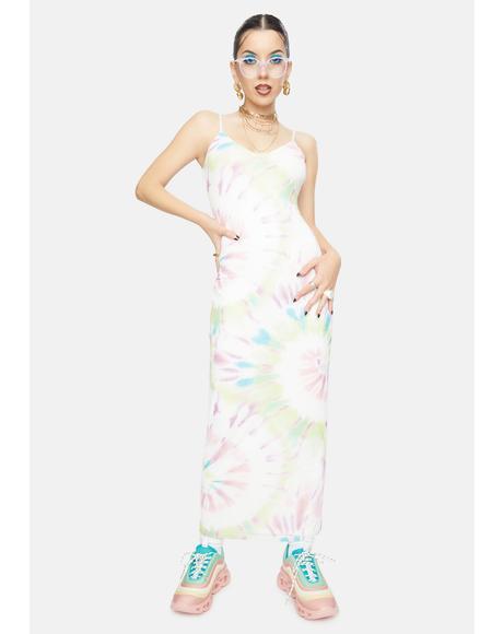 Blank Spiral Amina Tie Dye Maxi Dress
