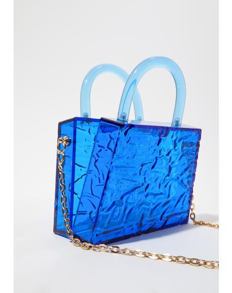 Sapphire Atomic Love Clear Handbag