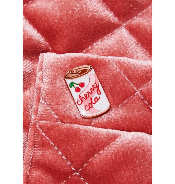 Rosehound Apparel Cherry Cola Lapel Pin