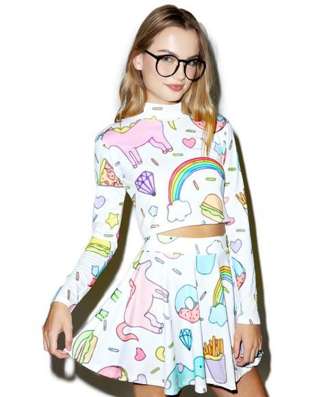 Land of Magic Unicorn Skirt Set