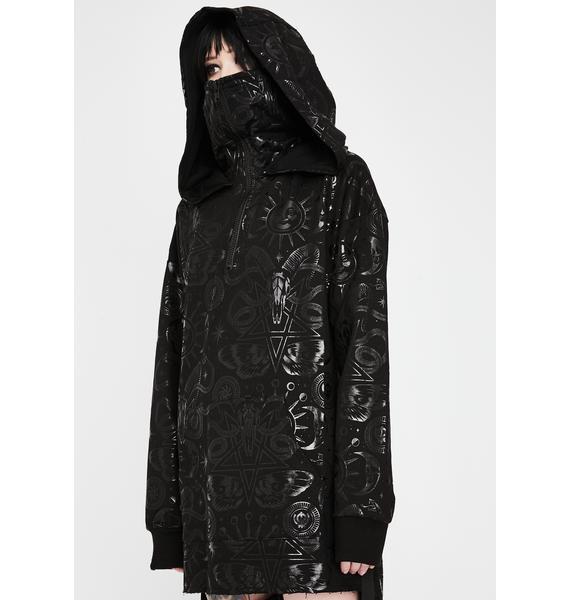 Killstar Beyond Black Oversized Hoodie