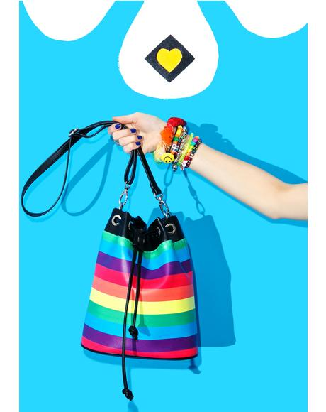 Rockin' Rainbow Bucket Bag