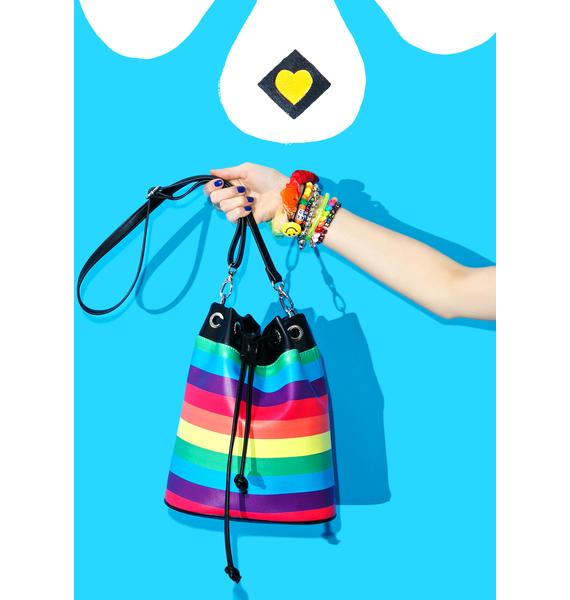Current Mood Rockin' Rainbow Bucket Bag