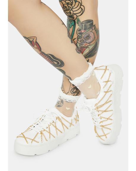 Blanc My Temptation Platform Sneakers