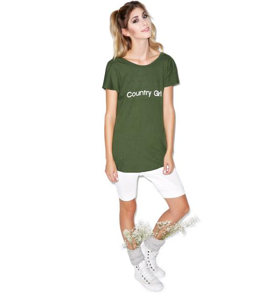 Wildfox Couture Country Girl Victorian Crewneck Tee
