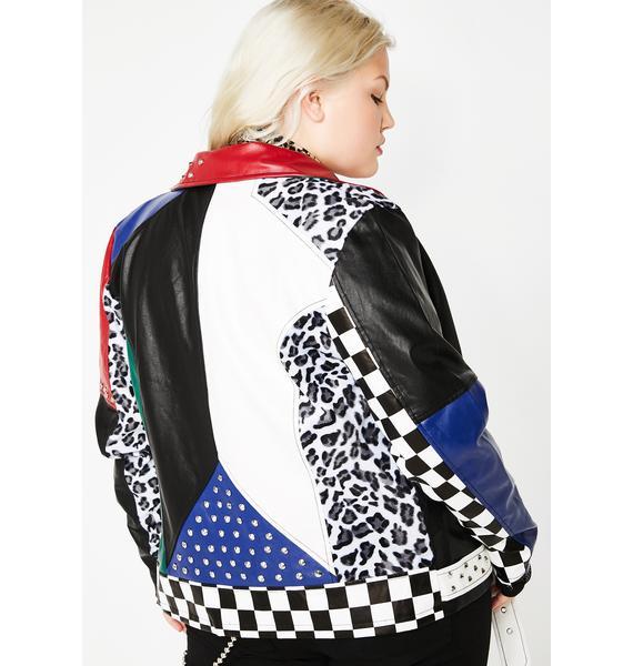 Current Mood True Oppositez Attract Moto Jacket