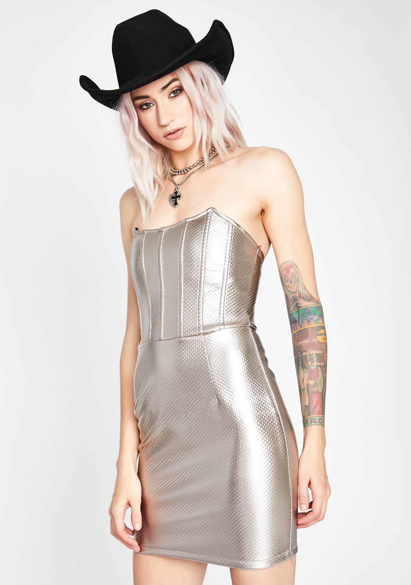 Slate Wicked Winds Corset Dress