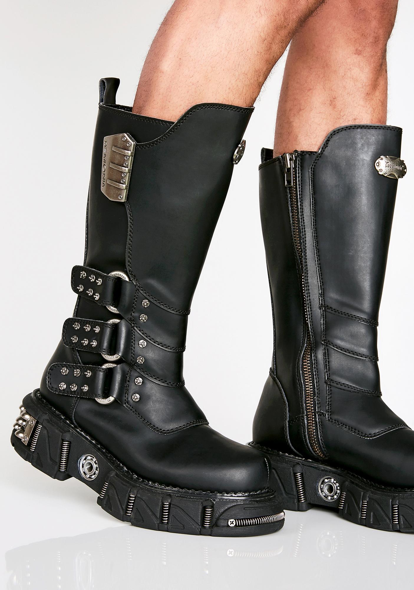 456924483f7 Demonia Desert Raider Unisexx Buckle Boots
