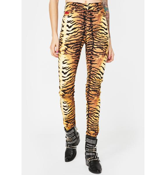 Tripp NYC Natural Tiger T-Back Jeans