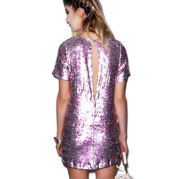 Motel Dewdrop Sequin Rows Dress