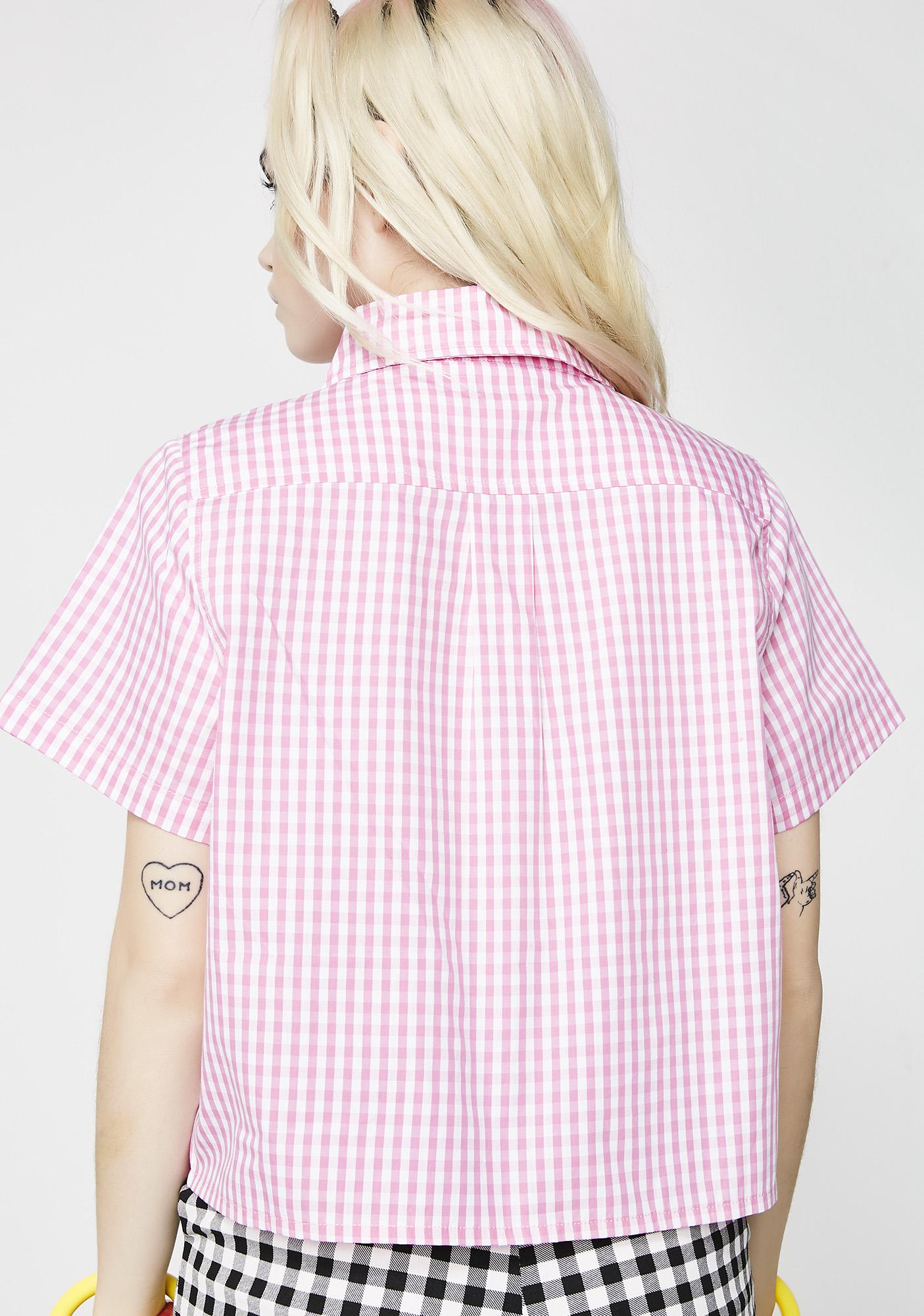Lazy Oaf I Heart Gingham Shirt