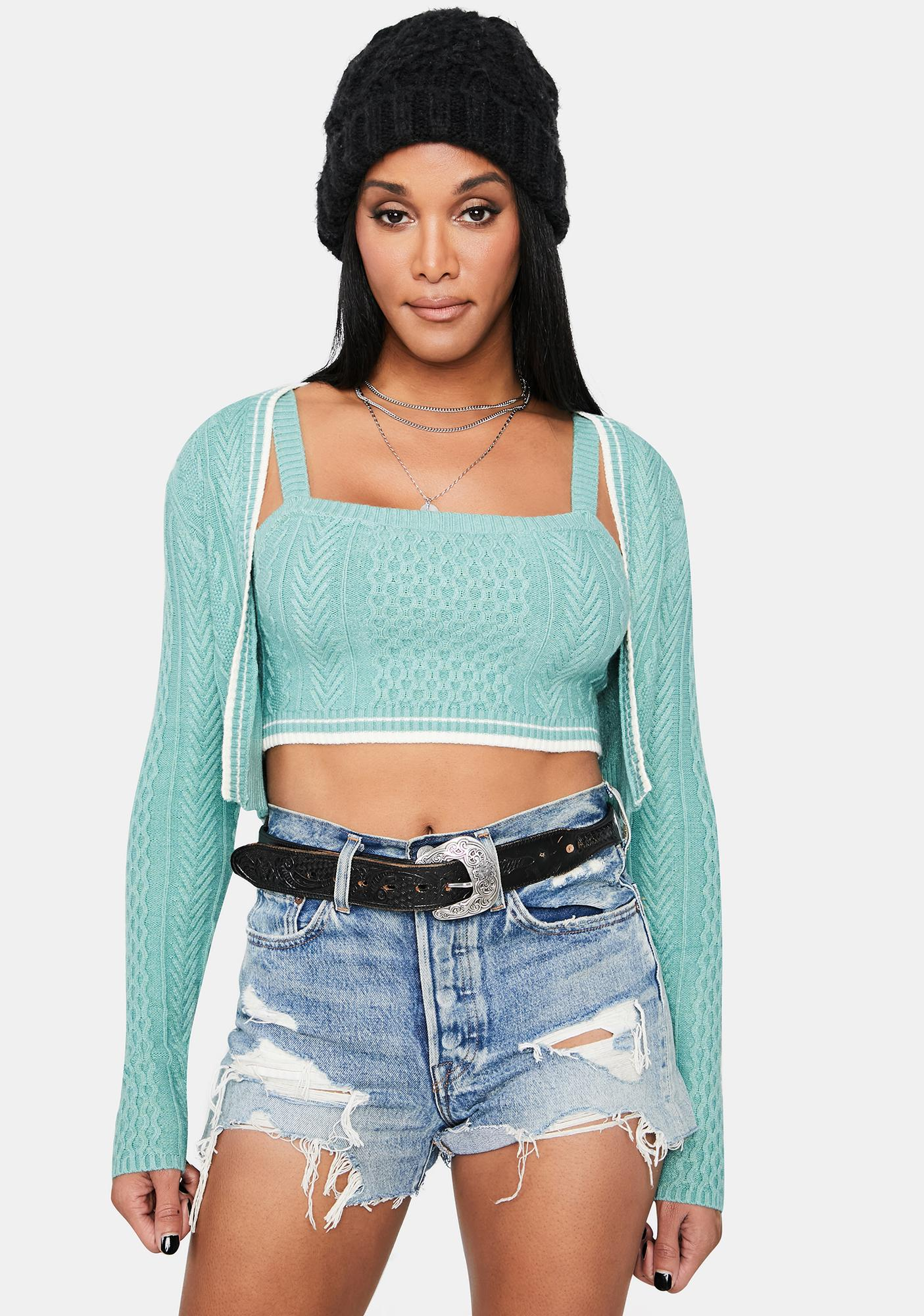 All My Life Cable Knit Cardigan Set