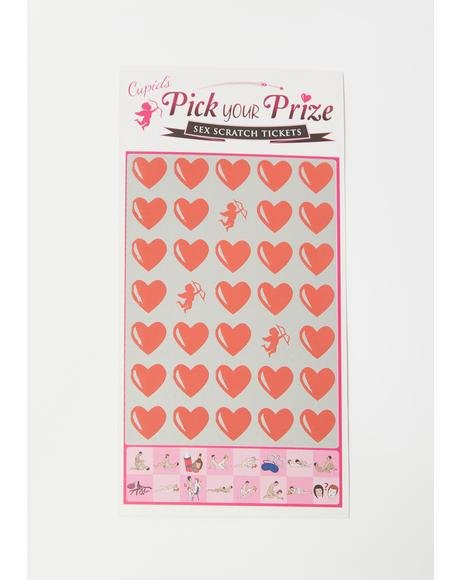 Cupid's Pick Your Prize Sex Scratch Tickets