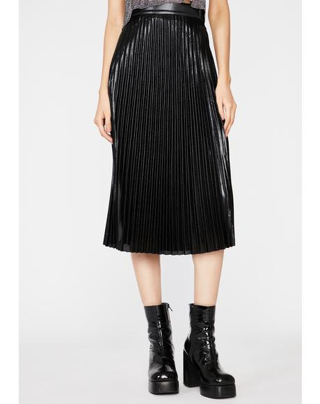 Ruffle My Feathers Pleated Skirt