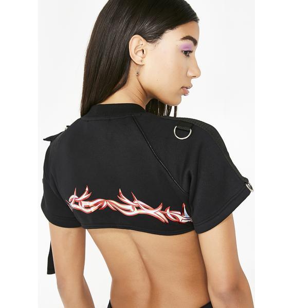 Namilia Flame Tribal Edge T-Shirt Bodysuit