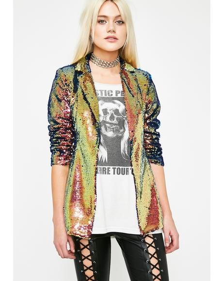 At The Top Sequin Blazer