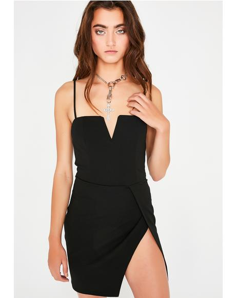 Pretty Liar Slit Dress