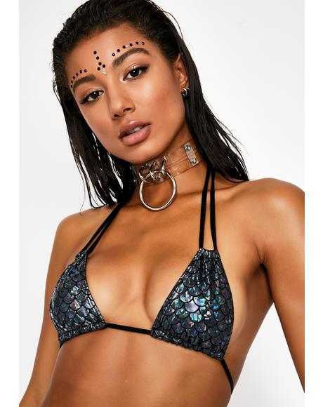 Dark Waters Double Strap Bikini Top