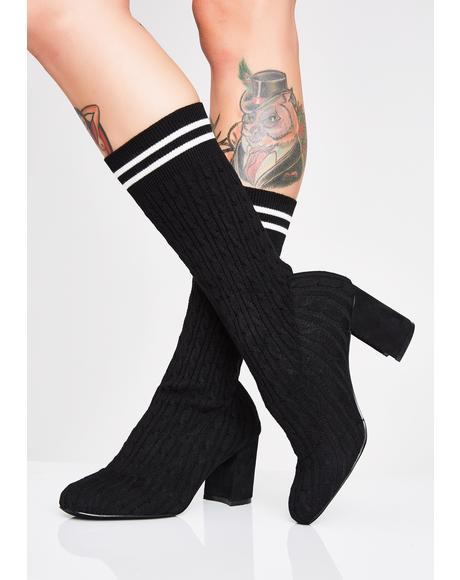 Play The Field Sock Booties