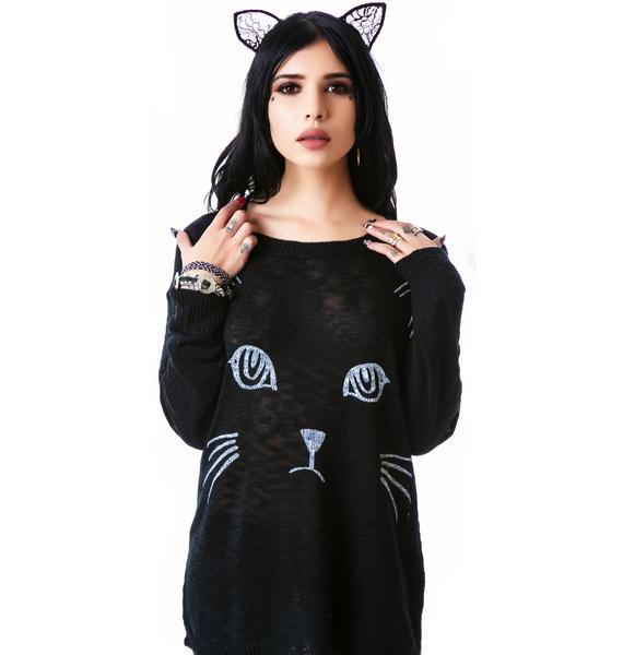 Cat's Meow Sweater