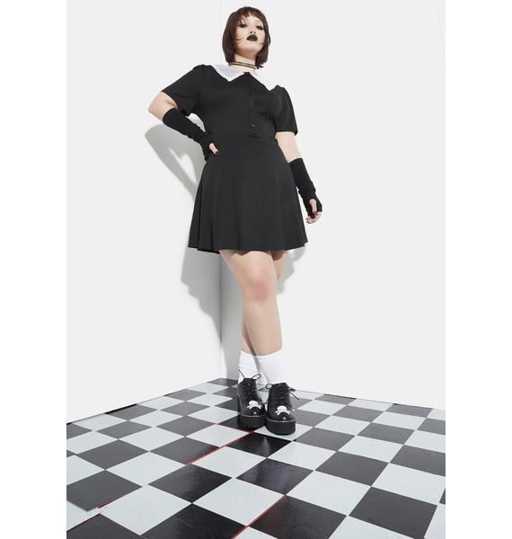 Current Mood You'll Come Out Alive Skater Dress